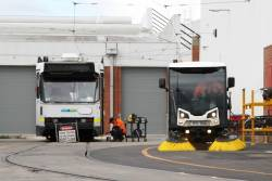 Street sweeper makes the rounds of Preston Depot