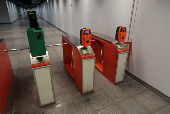 Prodata ticketing equipment on the Bucharest Metro