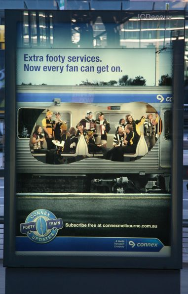 Connex footy train poster