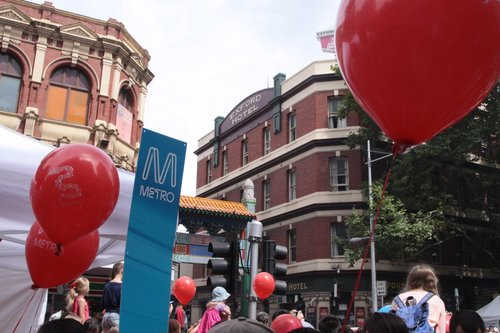 Metro Trains Melbourne stall at the 2013 Chinese New Year festival