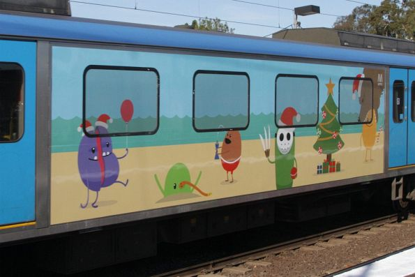 More Christmas-themed 'Dumb Ways to Die' banners - another Siemens train motor car