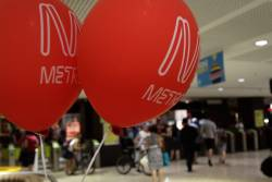 Don't lose your Metro branded helium balloons down the City Loop tunnels!
