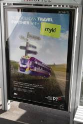 PTV advertising that myki is now valid on V/Line trains
