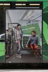 PTV 'Model Commuters' poster on a tram - 'The Mover-Overer'