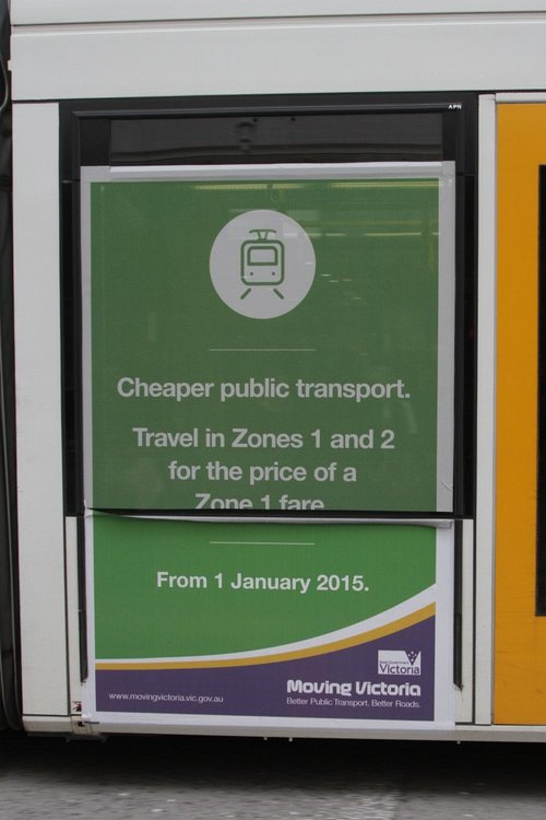 All out advertising blitz for the Liberal Government's cuts to public transport fares from 2015
