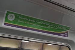 'Moving Victoria' advertisement onboard a Comeng train