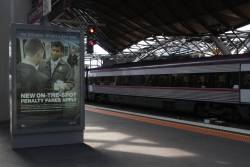 And still more PTV advertising at Southern Cross Station for the new on-the-spot 'Penalty Fares' regime