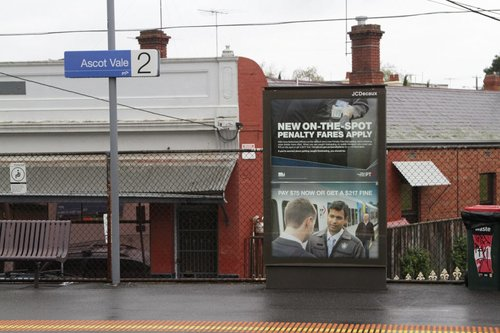Double helping of PTV advertising for the new on-the-spot 'Penalty Fares' regime