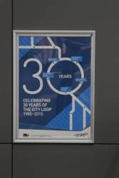 PTV poster celebrating 30 years of the City Loop