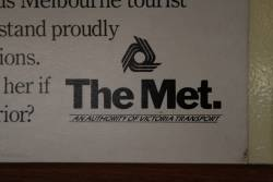 1980s advertisement for 'The Met - an authority of Victoria Transport'