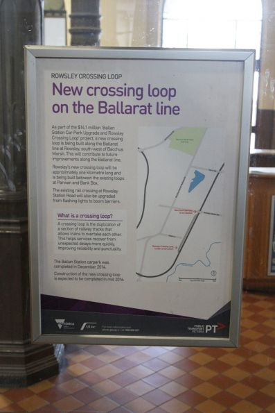 PTV poster for the new Rowsley Crossing Loop project on the Ballarat line