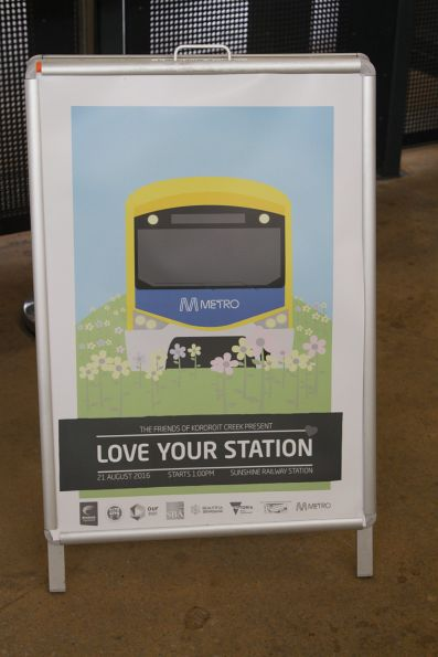 'Love your station' at Sunshine station, event organised by the Friends of Kororoit Creek
