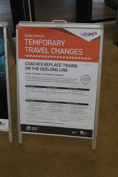 Geelong trains running via Werribee on 13-15 January due to trackwork