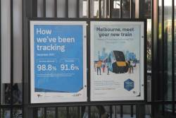 Promotion for the High Capacity Metro Train display at Birrarung Marr