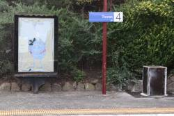 Faded 'Dumb Ways to Die' poster at Toorak station