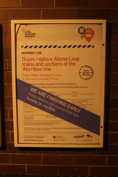 'We are finishing early' promotion for the Kororoit Creek Road level crossing removal