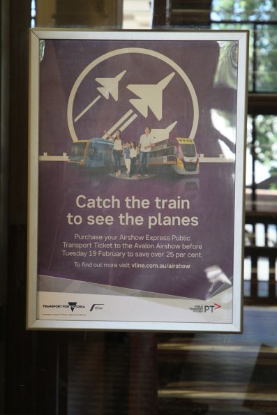 'Catch the train to see the planes' promotion for the 2019 Avalon Airshow