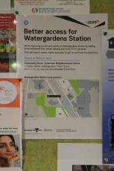 'Better access to Watergardens station' community engagement poster