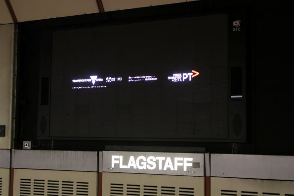 Unreadable Transport for Victoria / PTV promotion at Flagstaff station