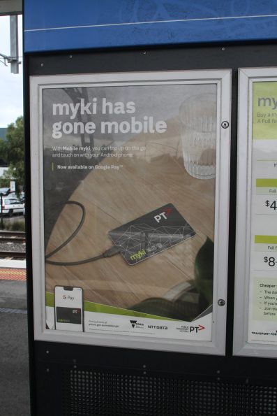'Myki has gone mobile' promotion at West Footscray station
