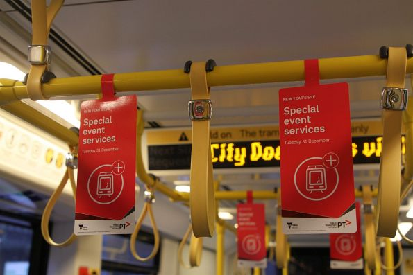 'Special event services' promotion for New Year's Eve onboard a tram