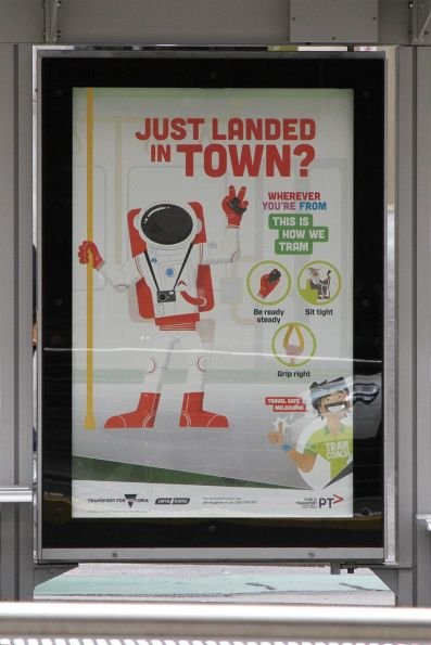'Just landed in town?' poster from the 'Tram Coach' campaign