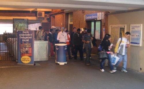 'Martin Merton' book distribution at Glenferrie Station