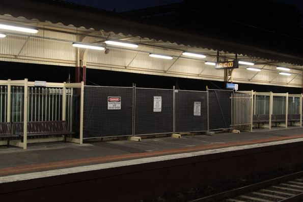 PSO pod under construction at South Yarra platform 1