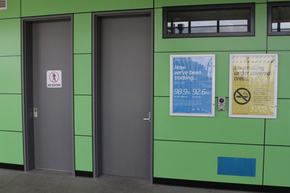 PSO pod incorporated into the new station building at West Footscray