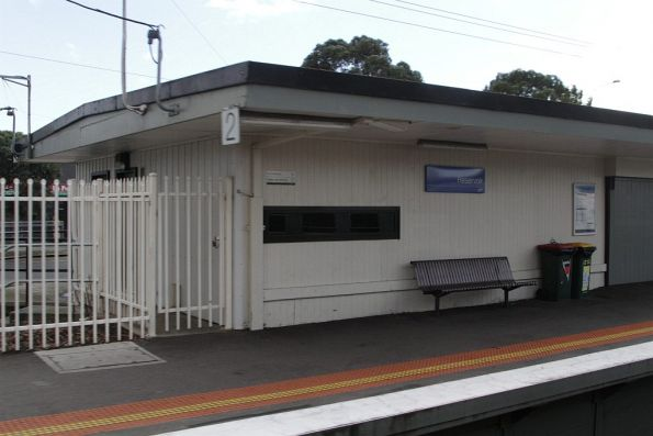 PSO pod retrofitted into the disused station building at Reservoir platform 2