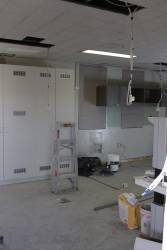 More work fitting out the station office at Ascot Vale as a PSO pod