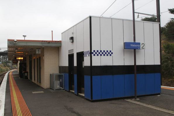 PSO pod tacked onto the side of the station building at Watsonia