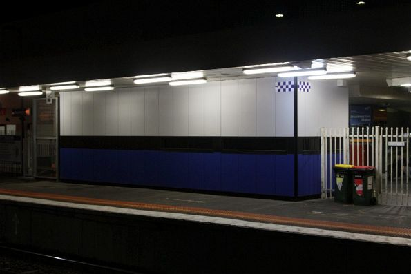 Replacement PSO pod at Broadmeadows station at the entrance to platform 1, replacing the temporary one at the down end