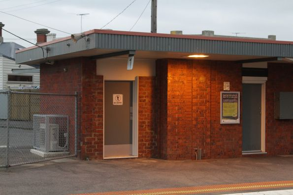 PSO pod retrofitted into the platform 1 station building at Seddon