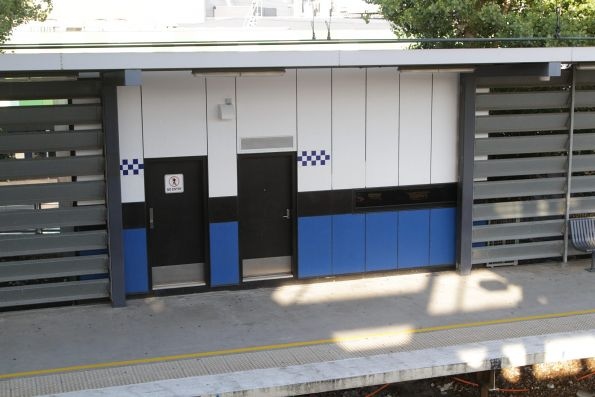 PSO pod retrofitted onto platform 1 at Watergardens station