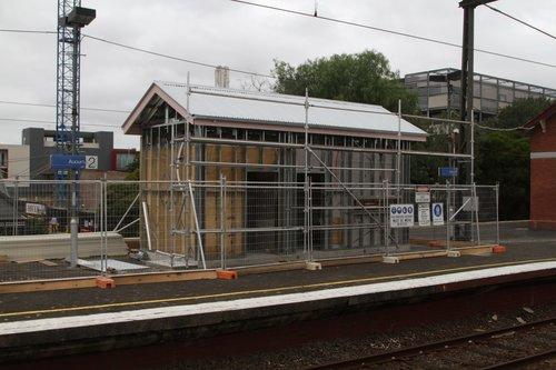 PSO pod under construction at Auburn station