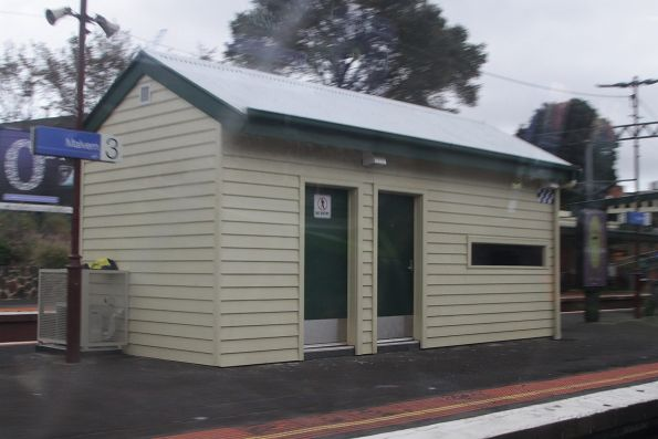 Heritage-styled PSO pod on platform 2 and 3 at Malvern