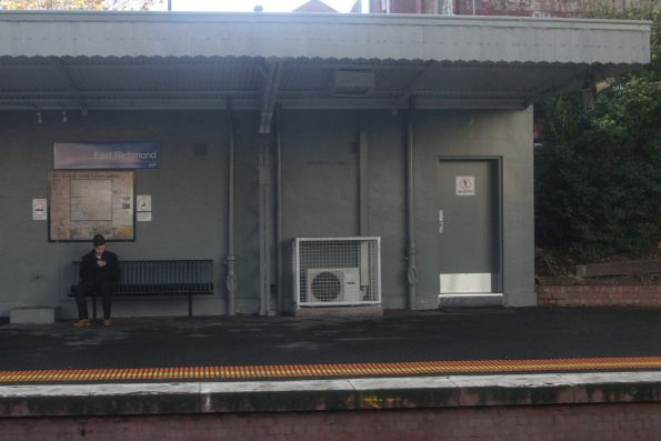PSO pod retrofitted into the abandoned station building at East Richmond platform 2