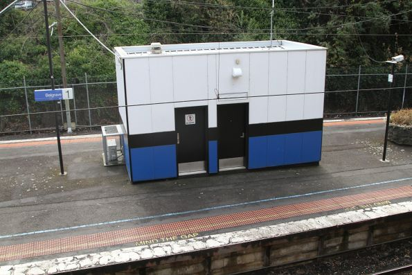 PSO pod on the island platform at Belgrave