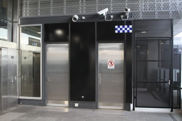 PSO pod built into the station building at Bentleigh