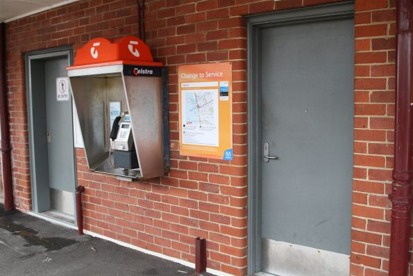 PSO pod retrofitted into the disused station building at Carrum platform 2