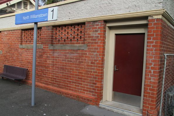 PSO pod retrofitted into the disused station building at North Williamstown platform 1