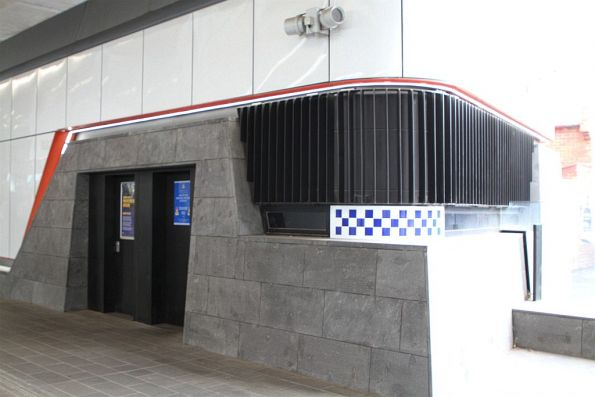 PSO pod on the ground level concourse at Murrumbeena station