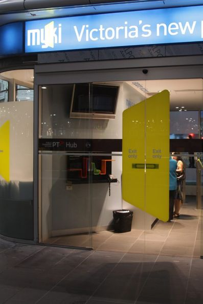 Myki discovery centre at Southern Cross rebranded as a 'PT> Hub'
