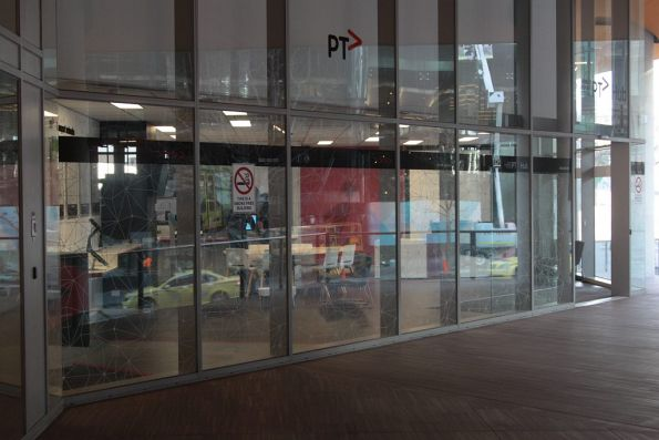 New PTV Hub at 750 Collins Street, right below the Public Transport Victoria head office!