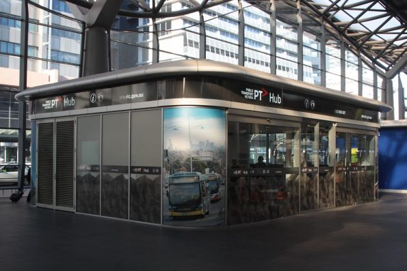 Main 'PTV Hub' on the concourse at Southern Cross Station