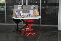Selection of flyers at the PTV hub at Southern Cross Station
