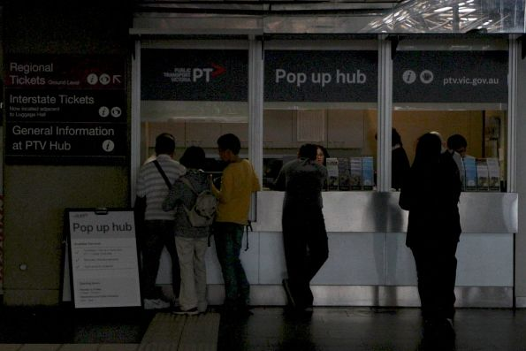 'Pop Up Hub' reopened at Southern Cross Station while the normal hub is renovated
