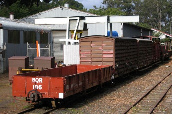 Miscellaneous goods wagons in the yard at Emerald station