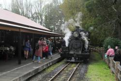 8A leads the train at Gembrook's 'town' station